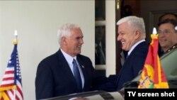 Potpredsjednik SAD Majk Pens i crnogorski premijer Duško Marković posle susreta u Bijeloj kući, ponedeljak 5. jun 2017