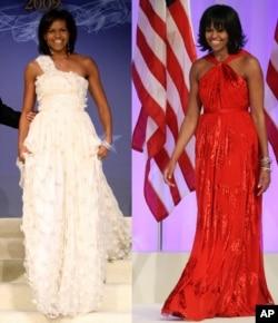 两次就职典礼舞会礼服都是由华裔设计师Jason Wu设计