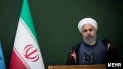 حسن روحانی رئیس جمهوری ایران در همایش قوه قضائیه