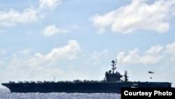 即将退役的乔治•华盛顿号航空母舰(资料照片)