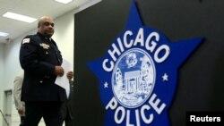 La police de Chicago lors d'une conférence de presse à Chicago, États-Unis, le 21 septembre 2016.