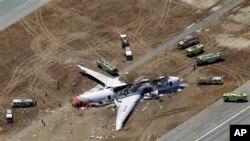 韩亚航波音777航班在旧金山机场降落时发生致命意外