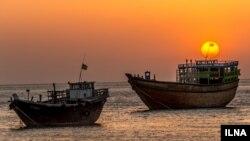 غروب آفتاب در جزیره قشم در خلیج فارس. عکاس: هادی نوید، ایلنا