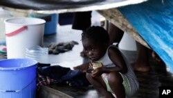 Trẻ em di dân tại một trại tạm cư ở Lajas Blancas, tỉnh Darien, Panama, ngày 29/8/2020.