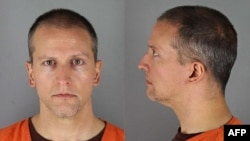 This handout photo provided by the Hennepin County Jail and received by AFP on May 31, 2020 shows Derek Chauvin booking photos face and profile.