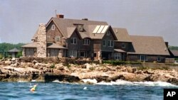 FILE - George Bush house is shown in this undated photo in Kennebunkport, Maine.