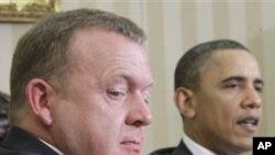Ο Πρόεδρος Ομπάμα με τον Πρωθυπουργό Ρασμούσεν