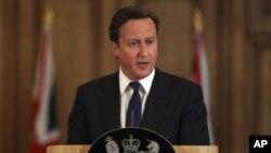 기자회견 갖는 데이비드 캐머런(David Cameron) 영국 총리