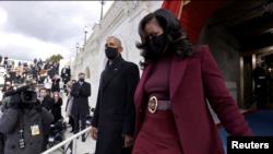 Obama arrives for Biden ianuguration