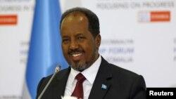 Presiden Somalia Hassan Sheikh Mohamoud di Istanbul, Turki, 23 Februari, 2016.(REUTERS/Osman Orsal).