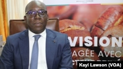 Kanka-Malik Natchaba, conseiller du président togolais, à Lomé, le 13 novembre 2018. (VOA/Kayi Lawson)