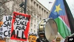 A pro-Sudan demonstration in London