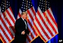 El presidente Donald Trumpnational en Washington D.C. luego de anunciar su estrategia de seguridad nacional. Dic. 18, 2017.
