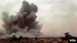 Pemimpin koalisi NATO akan meneruskan serangan militernya di Libya sampai Mioammar Gaddafi turun dari kekuasaan.