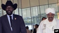 Shugaba Omar al-Bashir na Sudan ta Arewawe takwaransa na Sudan ta Kudu Salva Kiir