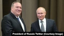 Держсекретар США Помпео та президент Росії Путін