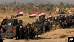 Các lực lượng an ninh Iraq chuẩn bị mở cuộc tấn công để chiếm lại thành phố Fallujah từ tay Nhà nước Hồi giáo, ngày 30/5/2016.