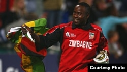 Prosper Utseya and his colleagues played well for Zimbabwe to end a 31-year old jinx against Australia. (Courtesy Image)