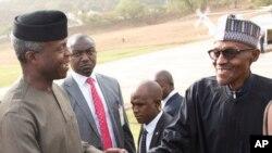 Rais wa Nigeria Muhammadu Buhari (Kulia) anatarajiwa kurudi nchini baada ya kupokea matibabu nchini Uingereza.