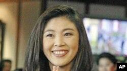 신임 태국 총리로 선출된 잉락 친나왓 대표