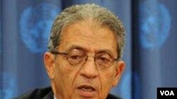 Sekjen Liga Arab Amr Moussa