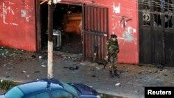 Кафе в Триполи, где был осуществлен теракт