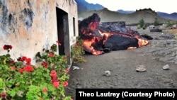 Erupção vulcão do Fogo. Chã das Caldeiras Ilha do Fogo Cabo Verde. Dez. 6, 2014
