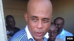 Prezidan Michel Martelly O Kap-Ayisyen, Nò Ayiti.(Foto Radio TeleVenus-VOA Kreyòl Affiliate)