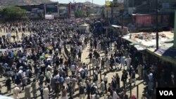 این تظاهرات از جاده شهید مزاری در غرب کابل هفت صبح به وقت محل آغاز گردید و تا چهارراهی دهمزنگ ادامه یافت.