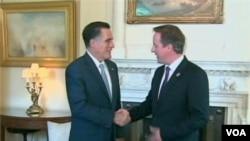 Predsednički kandidat američke Republikanske stranke Mit Romni se sastao u Londonu sa premijerom Dejvidom Kameronom