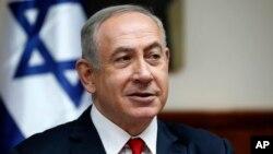 Perdana Menteri Israel Benjamin Netanyahu menghadiri rapat kabinet mingguan (foto: dok).