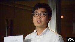 香港民族黨召集人陳浩天。(美國之音湯惠芸拍攝)