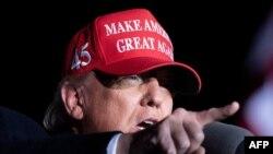 Presidente Donald Trump em Georgia, 1 novembro 2020