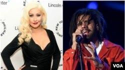 Christina Aguilera e J Cole