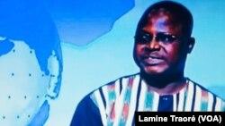 Abdoul Kader Nagalo, procureur du Faso sur le plateau du 20h, le 7 janvier 2019. (VOA/ Lamine Traoré)