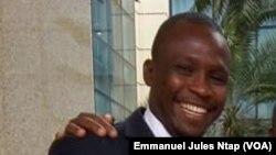 Njoya Moussa, politologue au département Sciences de langage - Université de Yaoundé 1, au Cameroun, le 22 mars 2018. (VOA/Emmanuel Jules Ntap)