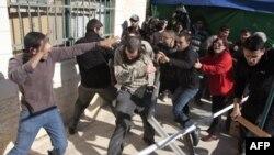 درگیری فلسطینیان و یهودیان در اورشلیم غربی