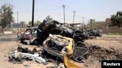 25일 이라크 수도 바그다드 북부 칼리스의 한 검문소에서 자살 차량 테러로 수십명의 사상자가 발생했다.