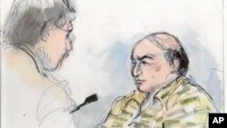 Mark Basseley Youssef (kanan) mengaku bersalah atas empat tuduhan dalam pengadilan di Los Angeles, hari Rabu 7/11 (foto: dok).