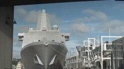 用世贸中心钢材打造的军舰到纽约参加9/11活动