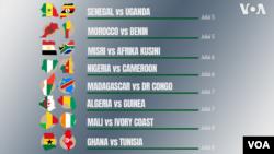 AFCON 2019 : Ratiba ya Raundi ya 16