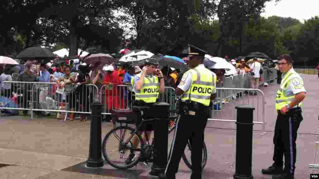 واشنگتن از ساعات نخستین بامداد چهارشنبه تحت تدابیر امنیتی قرار گرفته است.