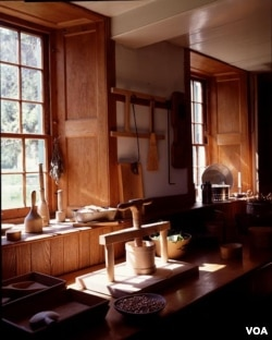 A simple, but elegant, kitchen at the Hancock Shaker Village near Pittsfield, Massachusetts. (Carol M. Highsmith)