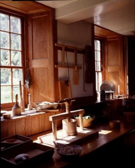 A simple, but elegant, kitchen at the Hancock Shaker Village near Pittsfield, Massachusetts. (Carol M. Highsmith)