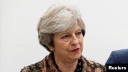 La Première ministre britanniqueTheresaMay à West Midlands, 20 novembre 2017.