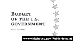 USA, Washington, proposal of the 2022 budget by US president and his administration