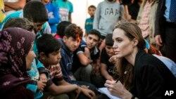 Angelina Jolie es una enviada especial de la agencia de refugiados de la ONU.