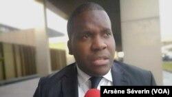 L'entrepreneur Vérone Mankou espère que les jeunes développeurs africains accèdent aux financements chinois, à Brazzaville, le 10 septembre 2019. (VOA/Arsène Séverin)