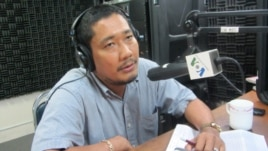 Long Panhavuth, a monitor for the Cambodia Justice Initiative, talks on VOA Khmer's Hello VOA radio call-in show, May 02, 2013.