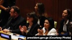 Президент Грузии Саломе Зурабишвили на сессии ГА ООН